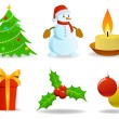 Set of vector christmas images. — Stock Vector
