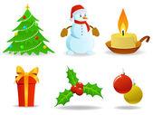 Set van kerstmis vectorafbeeldingen. — Stockvector