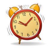 Dibujos animados rojo despertador — Vector de stock