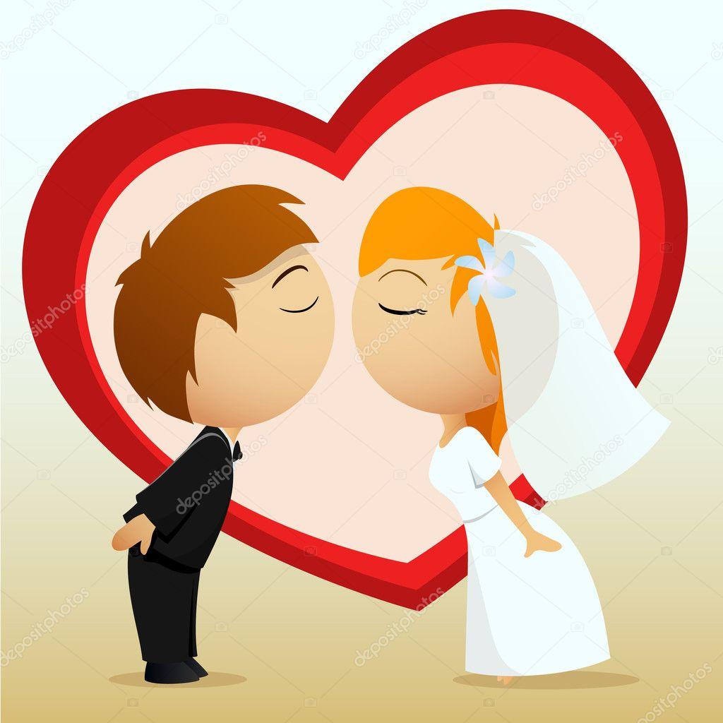 Wedding couple vector Stock Vectors   Depositphotos