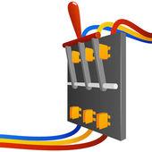 Vector big breaker switch — Stock Vector