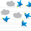 Twitter birds — Vector de stock #6526769