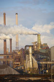Heavy steel industry at steel factory — Stock Photo