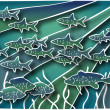 Stock Photo: Fish batik