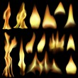 Fire elements - Stock Vector