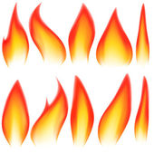 Flame elements — Stock Vector