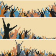 Crowd foregrounds — Stock Vector #6445796