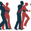 Female self defense — Imagen vectorial