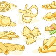Royalty-Free Stock Vector Image: Pasta shape icons