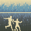 Royalty-Free Stock Imagen vectorial: Penalty kick