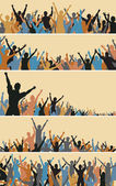 Crowd foregrounds — Stock Vector