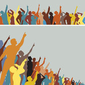 Pointing crowds — Stockvector