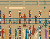 Public library — Stock Vector