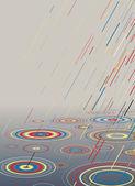 Color rain — Stock Vector