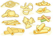 Pasta shape icons — Stock Vector