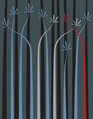 Palmy plants — Stock Vector
