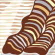 Stock Vector: Sock stripes