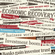 Financial recovery headlines — Imagen vectorial
