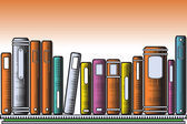 Woodcut books — Stock Vector