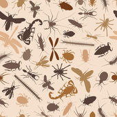 Bugs seamless tile — Stock Vector