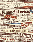 Financial crisis headlines — Stock Vector