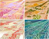 Fish batik — Stock Vector