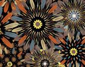 Dark flowers — Stock Vector
