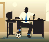 Football desk — Stockvektor
