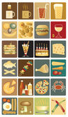 Food icons — Stockvector