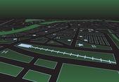 Green street map — Stock Vector