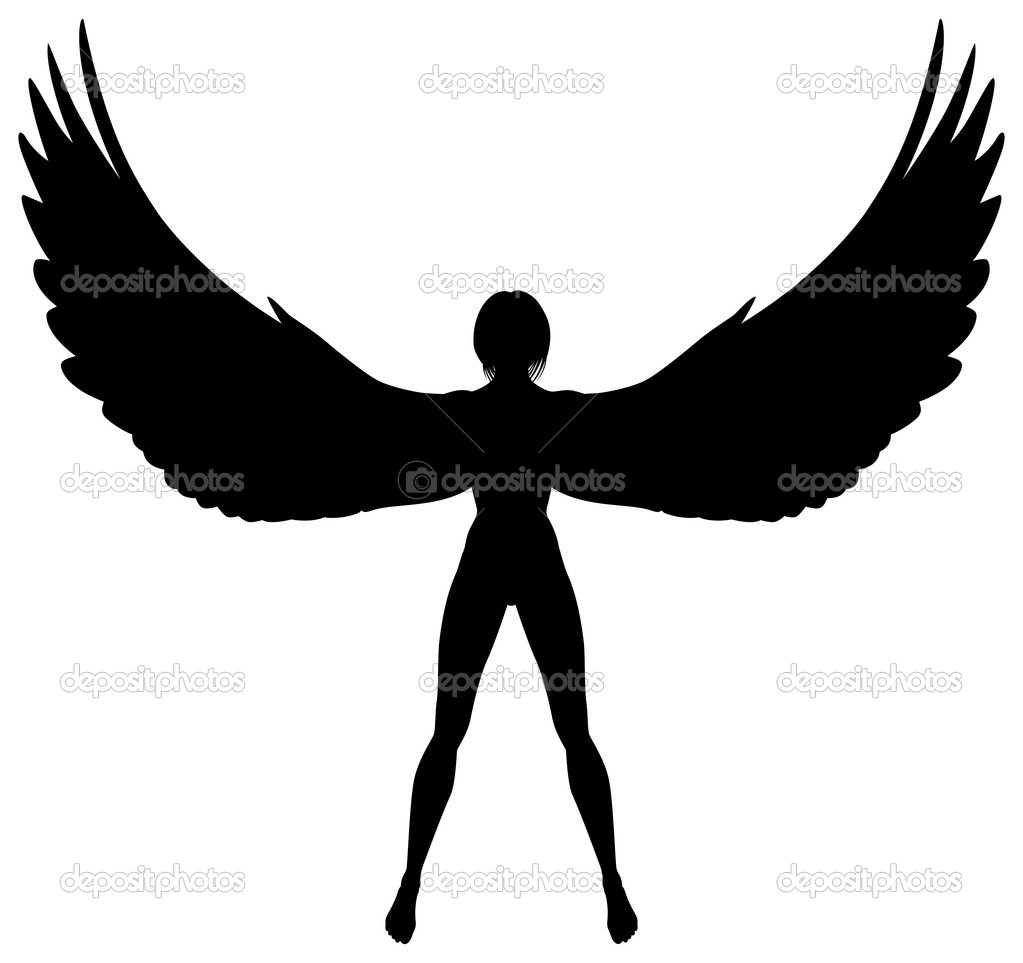 Winged woman — Stock Vector © Tawng #6453016