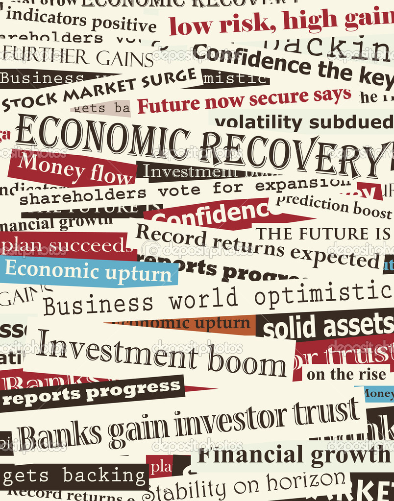 Background editable vector design of newspaper headlines about economic recovery — Stock Vector #6459521
