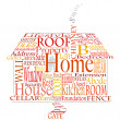 Home words - Stock Vector