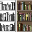 Stock Vector: Bookcase