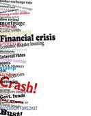 Financial crisis — Stock Vector