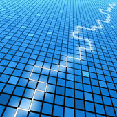 Blue crack — Stock Vector