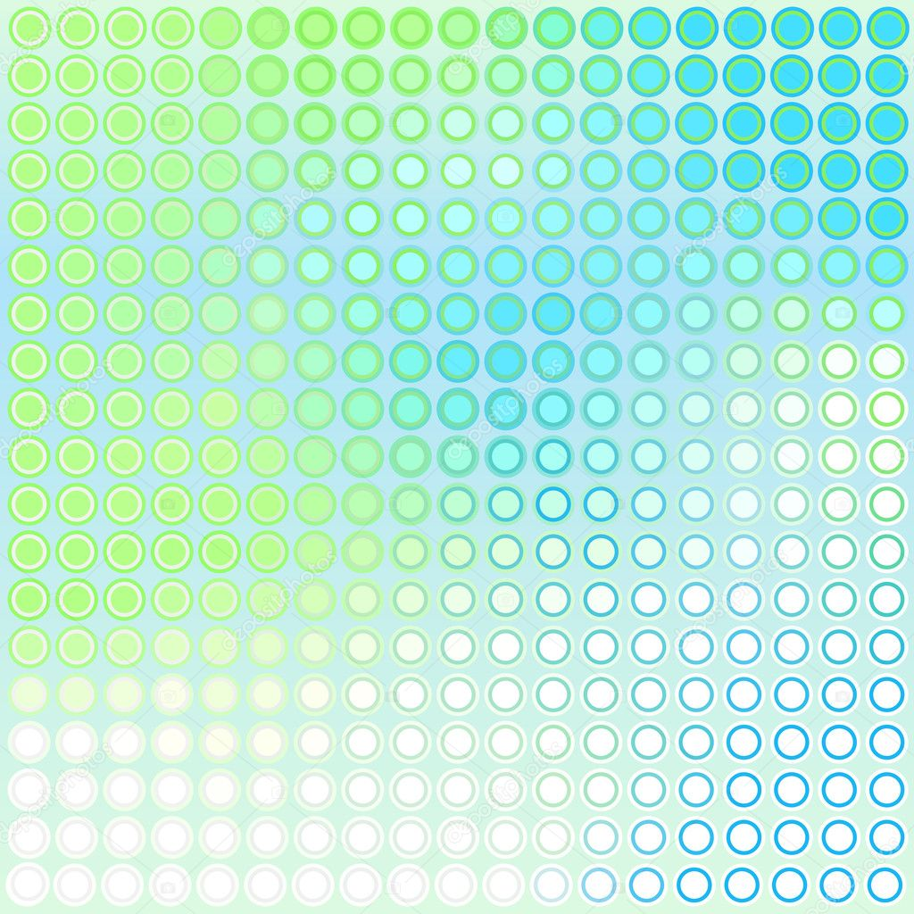 Abstract vector background of blue and green dots — Stock Vector #6465203