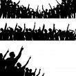 Pointing crowds — Stock Vector