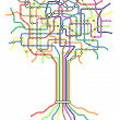 Stock Vector: Subway tree