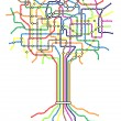 Subway tree - Stock Vector