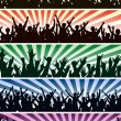Concert crowds — Stock Vector