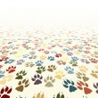 Paw floor - Stock Vector