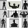 Incarcerated - Stock Vector
