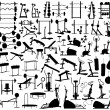 Stock Vector: Gym equipment