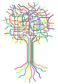 Subway tree — Stockvector