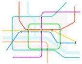 Underground map — Stock Vector