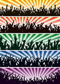 Concert crowds — Stock Vector