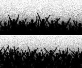 Grainy crowds — Stock Vector