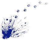 Cat spill — Stock Vector