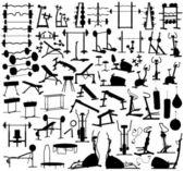 ジム機器 — ストックベクタ